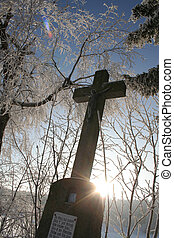 Winter Cross - Winter in the Black Forest in Germany