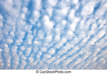 Altocumulus clouds with blue sky