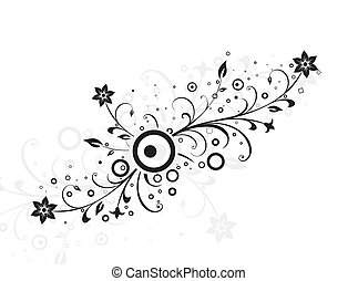 abstract Floral silhouette, element for design,illustration...