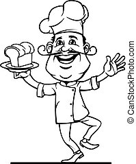Chef Icon - icon chef in outline style