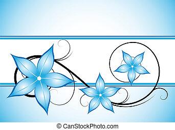 winter blue floral design