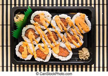 Sushi - California rolls of sushi