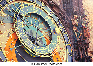 Astronomical clock in Prague - Astronomical clock in tawn...