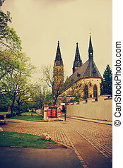 Cathedral of Saint Peter and Paul in Vysehrad - Vintage...