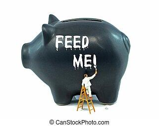 Piggy Bank Savings Concept - Financial money saving concept...