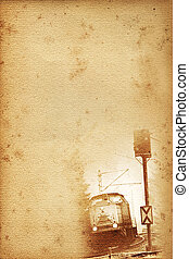 old railway paper - old historical railway paper with...