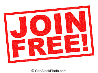 JOIN FREE red Rubber Stamp over a white background