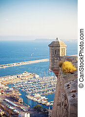 Santa Barbara castle, Spain - View from Santa Barbara castle...