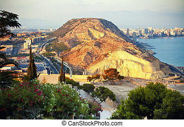 Alicante - Beautiful view to Alicante mountain, Spain