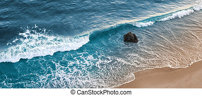Gaviota Surf - A wave breaking on a beach in central...
