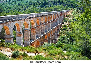 romano, Acueducto, en, Tarragona,