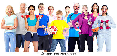 Group of fitness people Weight loss and healthy lifestyle