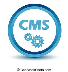 Blue cms icon on a white background. Vector illustration