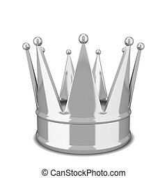 Royal crown. 3d illustration isolated on white background