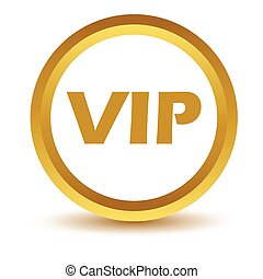 Gold vip icon on a white background Vector illustration