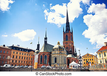 Riddarholmen church, Stockholm - Riddarholmen church in...