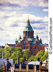 Uspensky cathedral in Helsinki, Finland