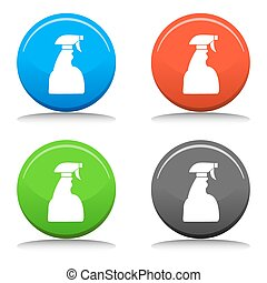 Spray Bottle Set - An image of a spray bottle with a variety...