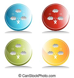 Cloud Technology Icon - An image of a cloud technology icon.