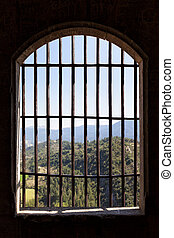 View from prison window - Landscape viewed from the window...