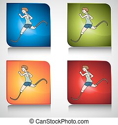 Disabled Runner Button - An image of a disabled runner...