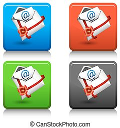 Email Gift Icon Button
