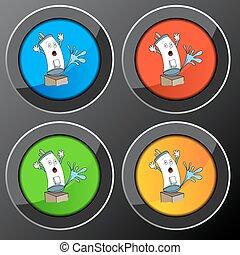 Broken Water Heater Button