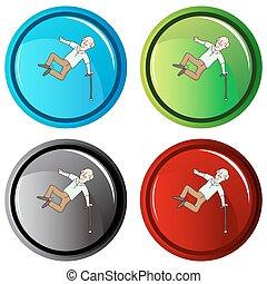 Healthy Senior Button - An image of a healthy senior button.