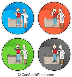 Health Insurance Card Button - An image of health insurance...