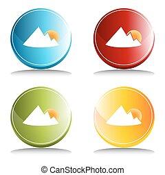 Mountain Sunrise Button