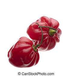 Pair of scotch bonnets - A pair of red scotch bonnet...