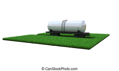 railway tank with fuel