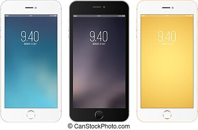 Smartphones - Vector illustration with three different...