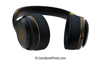 Gold headphones - Headphones exclusive golden design 12 line...
