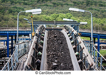 coal transportation line for processing