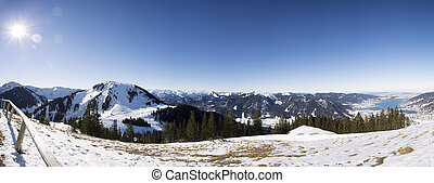 Panoramic view from Wallberg mountain, Germany