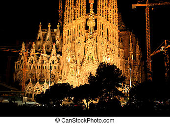 The Sagrada Familia Church in Barcelona