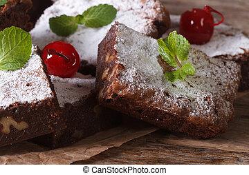 finom, csokoládé, manó, Torta, noha,...