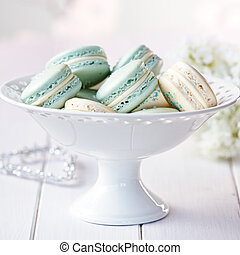 Macarons - Cake stand filled with macarons