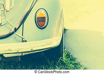 Light lamp vintage car style - vintage effect style pictures...