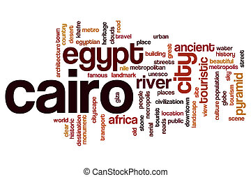 Cairo word cloud concept