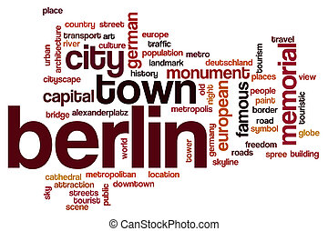 Berlin word cloud concept