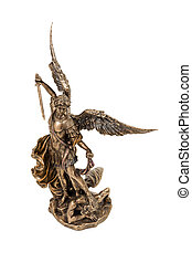 Statuette Archangel Michael - Gift bronze statuette of the...