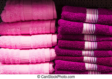 Purple towels