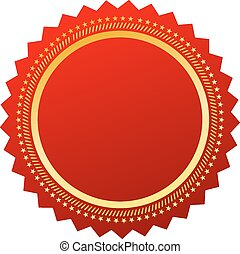 Red blank certificate on white background