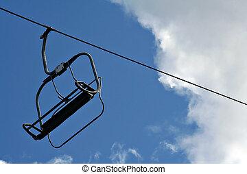 ski lift - Vintage ski lift