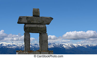 Inukshuk, symbol of the 2010 Winter Olympics, to be held in...