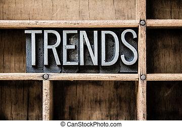 Trends Letterpress Type in Drawer