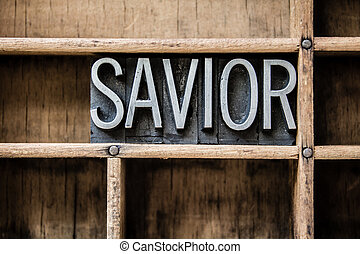"Savior Letterpress Type in Drawer - The word ""SAVIOR""..."
