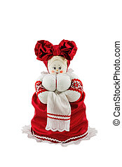 Rag doll - Russian rag doll with big breasts in red dress...